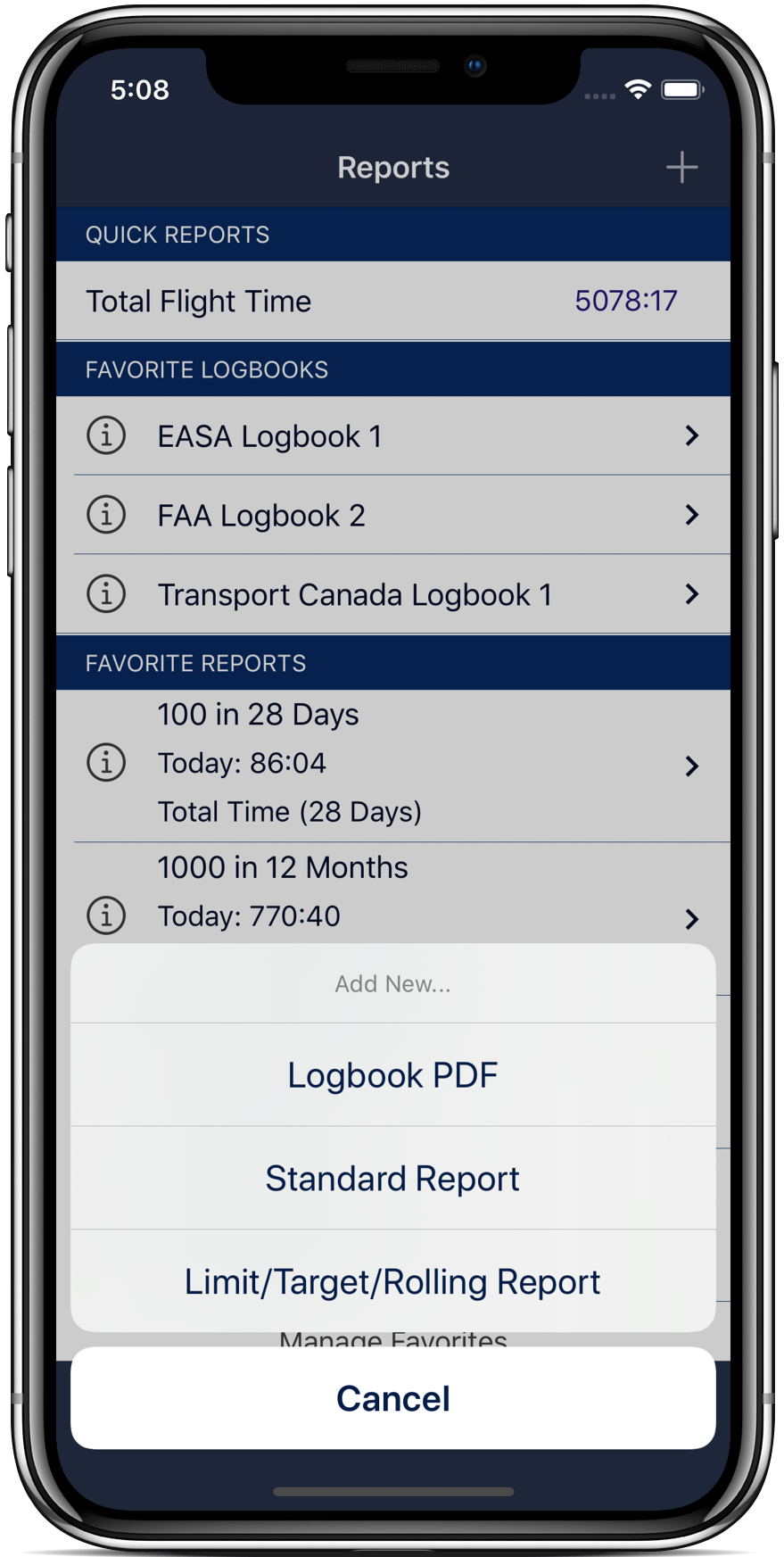 Track your EASA and FAR117 limits & make custom limits
